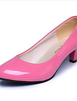 Women's Shoes Leatherette Low Heel Heels Heels Outdoor / Casual Black / Pink / Red / White / Beige