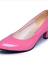 Chaussures Femme-Extérieure / Décontracté-Noir / Rose / Rouge / Blanc / Beige-Talon Bas-Talons-Talons-Similicuir