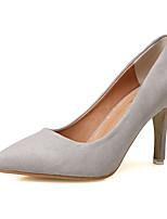 Chaussures Femme-Décontracté-Gris-Talon Aiguille-Talons-Talons-Laine synthétique
