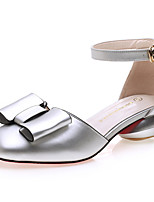 Women's Shoes Synthetic Flat Heel Heels Flats / Slippers Office & Career / Party & Evening/Dress/Casual Pink/Silver