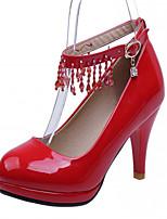 Scarpe Donna-Scarpe col tacco-Ufficio e lavoro / Formale / Serata e festa-Tacchi-A stiletto-Finta pelle-Nero / Rosa / Rosso / Tessuto