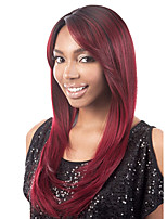 Women Long Cosplay Straight Synthetic Hair Wig Fuxia