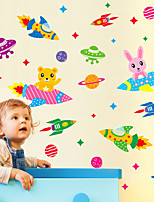 Wall Stickers Wall Decals, Cartoon Spacecraft UFO PVC Wall Sticker
