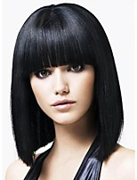 2016 Hot Full Bang Chunk Tips Style Yaki Straight Lace Front Gluless full lace wig For African American Women