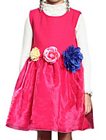 Girl's Dress,Polyester Summer / Spring Pink / Purple / Red