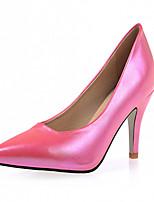 Calçados Femininos-Saltos-Saltos-Salto Agulha-Preto / Rosa / Branco-Courino-Escritório & Trabalho / Social / Festas & Noite