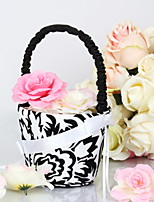 Flower Basket Satin Classic ThemeWithBow