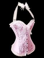 YUIYE® Hot Sale Women Pink Push Up Bra Sexy Corset Waist Shaper Overbust XXL Sexy Lingerie Corset
