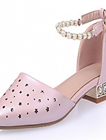 Women's Shoes Leatherette Chunky Heel Heels Heels Outdoor / Office & Career / Dress Blue / Pink / White