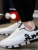 Men's Shoes Casual/Travel/Athletic Fashion Microfiber Leather Casual Shoes Black/Red/White 39-44