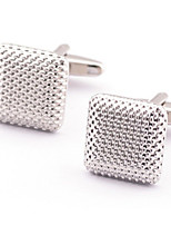 Toonykelly® Fashion Copper Silver Plated Square Gift Button Cufflinks(1 Pair)