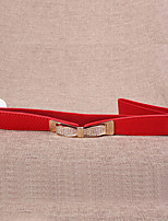 Women Leather Diamond Decoration Wide Belt,Cute / Party / Casual Alloy