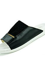 Zapatos de Hombre-Pantuflas-Casual-Sintético-Negro / Blanco