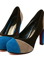 Women's Shoes Fleece Stiletto Heel Heels Heels Party & Evening Blue / Red