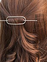 Women Unique Design Simple Vintage Style Fashion Geometric Circle Alloy Hair Stick Hair Accessories