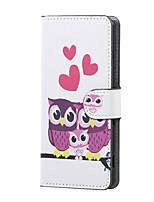chouette famille douce magnétique pu portefeuille en cuir rabat support de couverture de cas pour asus Zenfone max zc550kl
