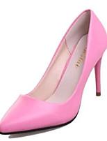 Chaussures Femme-Soirée & Evénement-Noir / Rose / Rouge-Talon Aiguille-Talons-Talons-Similicuir