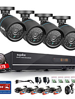SANNCE® 720P AHD 8CH Vedio CCTV DVR Black Bullet Camera Home Surveillance Security Camera System 1TB HDD