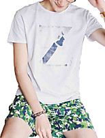2016 summer new Korean men's cotton short sleeved T-shirt Metrosexual youth t-shirt