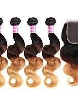 4 Stück Große Wellen Menschliches Haar Webarten Brasilianisches Haar Menschliches Haar Webarten Große Wellen