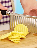 Stainless Steel Potato Wavy Edged Knife Gadget Vegetable Fruit Potato Cutter Peeler  Kitchen Cooking Tools