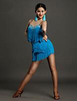 Vestidos(Azul claro,Spandex,Danza Latina) -Danza Latina- paraMujer