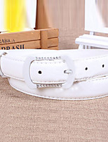 Women Leather Diamond-Studded Skinny Belt,Vintage / Cute / Party / Casual Alloy