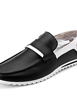 Men's Shoes Microfibre Outdoor / Casual / Athletic Slip-on / Fashion Sneakers Outdoor / Athletic / Casual Flat Heel Lace-up / OthersBlack