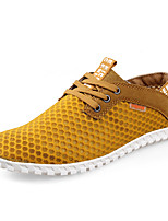 Men's Shoes Athletic / Casual Tulle Fashion Sneakers Black / Blue / Yellow / Gray