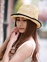 Women Straw Solid Fedora Hat,Cute / Party / Casual Spring / Summer / Fall