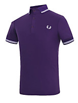 Men's Short Sleeve Polo,Cotton Casual / Work / Sport Print / Solid