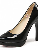 Women's Shoes Leatherette Stiletto Heel Heels Heels Office & Career / Party & Evening / Dress Black / White / Almond
