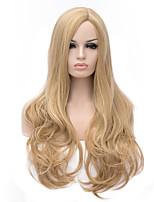 mélange de couleur dorée cheveux longs bouclés perruques synhtetic