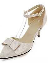 Women's Shoes Leatherette Stiletto Heel Heels Heels Outdoor / Office & Career / Dress Black / Beige