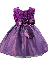 Girl's Blue / Pink / Purple Dress,Bow Acrylic Summer