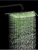 Monochrome LED Shower Nozzle Top Spray Shower Nozzle (Green)(12 Inch)