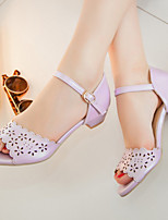 Women's Shoes Chunky Heel Peep Toe / Open Toe Sandals Party & Evening / Dress / Casual Pink / Purple / White