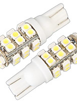 T10 W5W 168 194 Turn Signal Light Side Wedge Bulb Lamp White 28 SMD LED Light(12V,2 Pcs)
