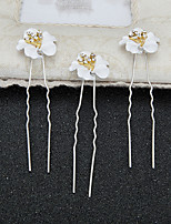 Women's / Flower Girl's Rhinestone / Alloy / Resin Headpiece-Wedding / Special Occasion Hair Pin 2 Pieces