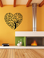 Heart Shape Wall Decal Botanical / Landscape WALL STICKER Shapes Wall Stickers Plane Wall Stickers,VINYL 57*53cm