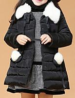 Girl's Black / Red Jacket & Coat Polyester Winter