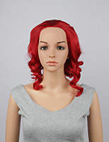 Fashion Synthetic Wigs Lace Front Wigs 10inch Bob Body Wave Red Heat Resistant Hair Wigs Women