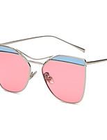 Sunglasses Women's Retro/Vintage / Fashion Mirrored / 100% UV400 Browline Black / Silver / Gold Sunglasses Full-Rim