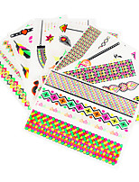 Fluorescent Colorful Metallic Temporary Tattoos Shiny Body Sticker Paper Summer Style Body Art