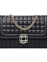 Women PU Baguette Shoulder Bag-White / Pink / Gold / Black