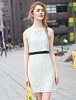Zishangbaili® Women's Round Neck Sleeveless Knee-length Dress-XZ52125