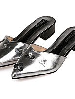 Women's Shoes Leatherette Summer Comfort Outdoor / Casual Low Heel Sequin Black / White / Silver