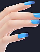 Sioux azul degradado de color de uñas esmalte de uñas pegamento 6ml