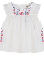 Girl's Blue / Red Dress,Floral Cotton Summer