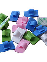 Set of 6 PVC Cord Clip Wire Cable Management Self-Adhesive Tape (Random Color)